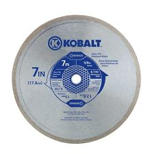 "Kobalt 7"" Continuous Rim Wet Glass Tile Diamond Blade Brand New In Box"