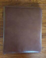 Day Timer Portfolio Zip Folder Soft Leather Tan 13 X 10 7 Ring Binder
