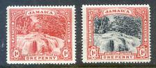 Jamaica 1900 - 1901 Llandovery Falls 2 x 1d lightly hinged (2018/10/23#02)