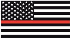 Firefighter Thin Red Line American Flag decal sticker graphic 3""