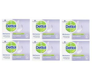 Dettol Antibacterial Bar Soap Sensitive 100 g, Pack of 6 Best Before 06/2019