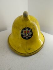 More details for vintage london fire brigade fire service helmet medium 57-59 1986 d3