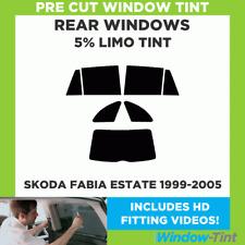 Skoda Fabia Kombi 1999-2005 5% Limousine hinten Vorgeschnittene Scheibentönung