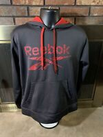 Reebok Black Red Gym Training Hooded Sweatshirt Mens Size Large Crossfit Nano