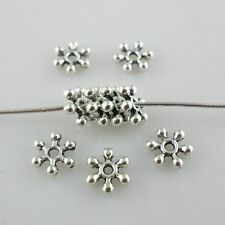 160/1300pcs Tibetan Silver/Gold Snowflake Flower Dainty Loose Spacer Beads