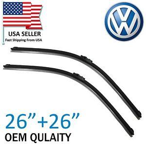 "Premium Quality  26"" & 26"" Wiper Blades For 2008-2014 VW Touareg Porsche Cayenne"