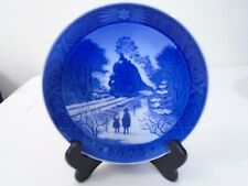 1973 Royal Copenhagen Christmas Plate Going Home for Christmas Mint Condition