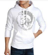 NWT Diesel S-AGNES. Hoodies. Sz L. 100% Cotton. White Color Solid. MSPR $148.00