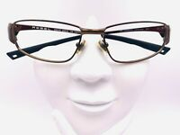 Vintage Morel Rebel 633112 Bronze Metal Oval Sunglasses Frames France