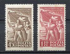 35610) POLAND 1952 MNH** Nuovi** International woman day 2v