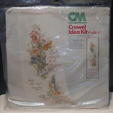 Vtg Hallmark Columbia Minerva Floral Bouquet Calendar Crewel Idea Kit  NIB