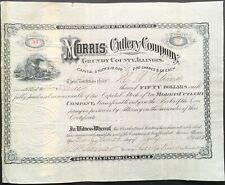 MORRIS CUTLERY COMPANY, GRUNDY COUNTY, MORRIS, ILLINOIS Stock 1882. Knives