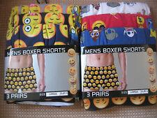 Men's Cotton Boxer shorts, Novelty Emoji pattern, Pack of 3, 3 sizes M, L, XL