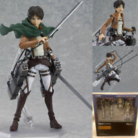 "6"" Attack On Titan Eren Yeager Action Figure Figma 207 Collection Toy In Box"