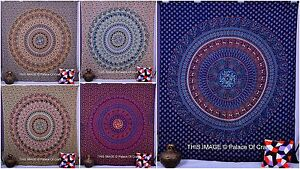 Indian Queen Size Elephant Mandala Tapestry Cotton Bed cover Hippie Beach Throw