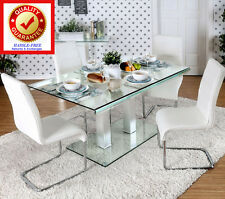 Dining Table Modern Style Contemporary Tempered Glass Dining / Kitchen Table
