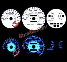 WHITE 92-95 Civic LX/EX/Si MT BLUE INDIGLO GLOW Reverse GAUGES