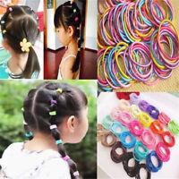 100pcs Elastic Rope Women Girl Kid Hair Ties Ponytail Holder Head Band Hairbands