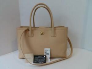 Chanel Beige Caviar Leather/Gold Hardware Cerf Tote/Shoulder Bag