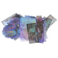 Vellum Transparent Washi 50//100 Customized Die-cut Label Stickers Kraft