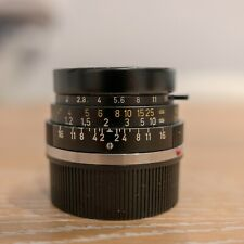 [NEAR MINT] Leica 35mm f/2 SUMMICRON-M Canada with lens hood and leather case