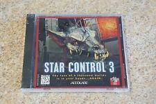 1996 Accolade STAR CONTROL 3 III PC CD-ROM Space Alien Game Brand NEW SEALED