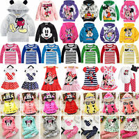 Baby Kids Girl Mickey Hoodies Sweatshirt Tops Hooded Jumper Jacket Coats Outfits