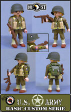 US SARGENTO 101 AIRBONE 1944 CUSTOM PLAYMOBIL SOLDADO WW2 GUERRA SOLDATEN SOLDIE