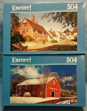 Lot of 2 Encore 504 piece puzzles Petersham, Ma. & Suffolk, Kersey