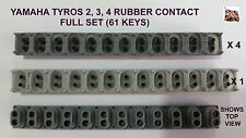Yamaha Tyros 2, 3, 4 key rubber contact Full Set 4x12way, 1x13way 61 key sensing