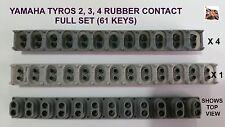 Yamaha Tyros 2, 3, 4 key rubber contact Full Set 4x12way, 1x13way 61 key sensing