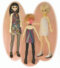 BJD pattern for SD & MSD, Ellowyne & many more! 60's dress, fast & easy to make!