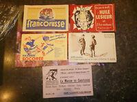 LOT Buvard CHICOREE SOCOREE MAISON CAOUTCHOUC HUILE LESIEUR POULBOT FRANCORUSSE