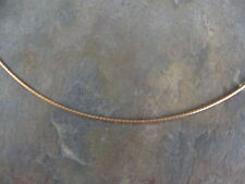 """10 KT Yellow Gold Round Neck Wire Omega Chain Necklace 16"""" NEW Lightweight"""