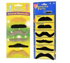 FALSE MOUSTACHES STICK ON Mexican Fancy Dress Fake Moustache Tash Tashes  lot UK