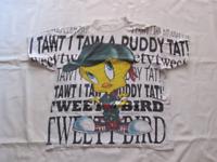 TWEETY Bird  I Tawt I Taw a Buddy Tat !   - Vintage t-shirt  tg. XXL  USA 1994