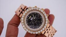 Breitling A44362 Bentley 48mm Chronograph 15 Carat Diamonds Pink Gold Plated