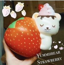 Creamiicandy Yummibear Hugging Strawberry Squishy
