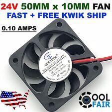 24V 50mm Cooling Computer Fan 5010 50x50x10mm DC 3D Printer 2 Pin
