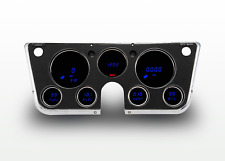 67-72 Chevy Truck Instrument Cluster Blue LED Digital Gauges by Intellitronix US