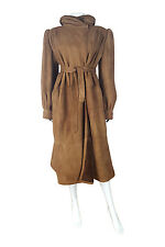 *VALENTINO* SHEARLING CALF LENGTH BELTED COAT (44)