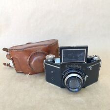 Exakta VP-B V-3 Vintage Film Camera W/ Tessar 7.5cm 2.8 & Case - BLACK - NICE