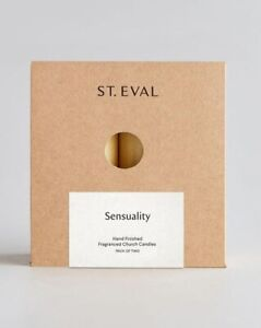"""St Eval SENSUALITY Scented Candle 10cm x 5cm. 4"""" x 2"""". Two Candles"""