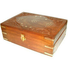 Carved Wooden Essential Oils Box for 24 x 10ml Bottles - with FREE Lavender Oil