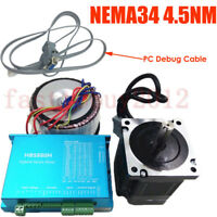 Nema34 4.5NM DSP Close Loop Stepper 643oz-in Motor Drive Power Supply PC Cable