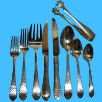 Reed & Barton HAMMERED ANTIQUE Glossy Flatware - Silverware CHOICE