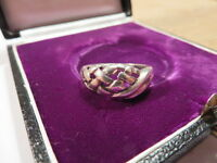 Bezaubernder 925 Sterling Silber Ring Geflecht Knoten Verschlungen Geflochten