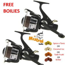 Carp Fishing Reels x2 NGT MAX60 Bait Runner Freespool and FREE BOILIES