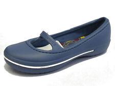 Mujeres Sin Cordones Crocs - Crocband Invierno plano- Bijou blue- US W4/ukw2