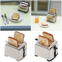 Haus spielen Miniatur Toaster Mit 2PCS Brot Zubehör für Puppen Toast Maschine
